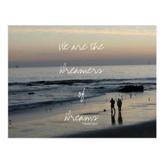 Dreamers of Dreams Beach Postcard