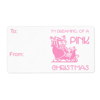 Dreamin' Pink Gift Tag Personalized Shipping Labels