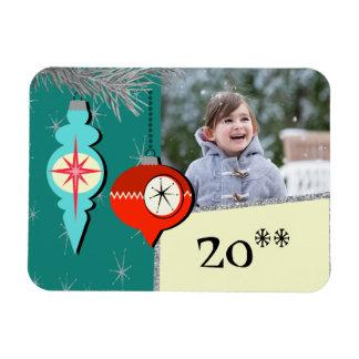 Dreaming a of Retro Christmas Flexi Photo Magnet