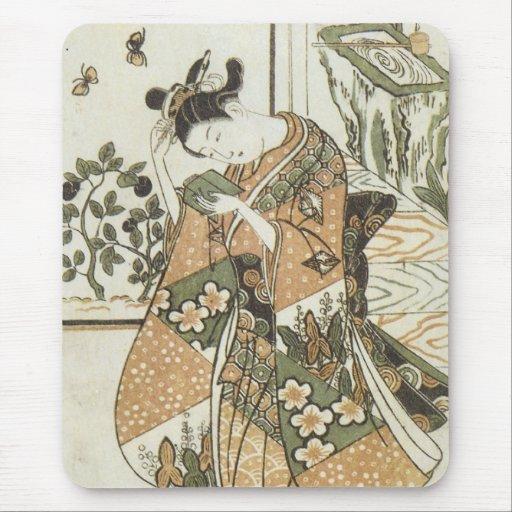 Dreaming Aubergines Mangetsudo Art Prints Mouse Pad