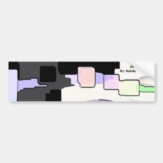"""""""Dreaming Blue"""" Geometric Art Bumper Sticker"""