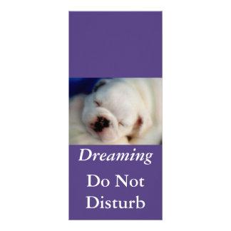 Dreaming Bulldog Do Not Disturb Rack Card