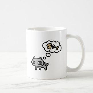 Dreaming Cat Classic White Coffee Mug