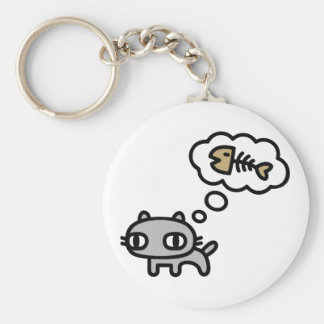 Dreaming Cat Keychain
