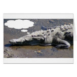 Dreaming Crocodile, Add Your Own Text! Greeting Card