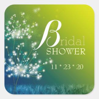 Dreaming Dandelions Bridal Shower Square Sticker