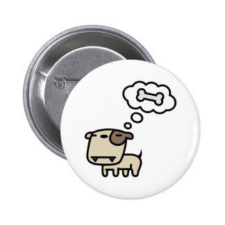 Dreaming Dog Pinback Button