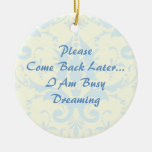 Dreaming Door Hanger Double-Sided Ceramic Round Christmas Ornament