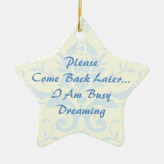 Dreaming Door Hanger Double-Sided Star Ceramic Christmas Ornament
