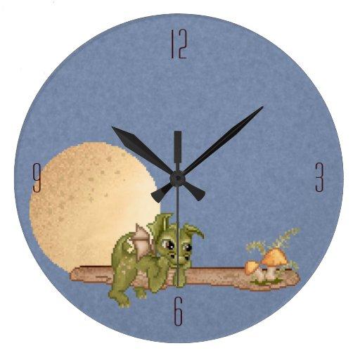 Dreaming Dragon Large Clock