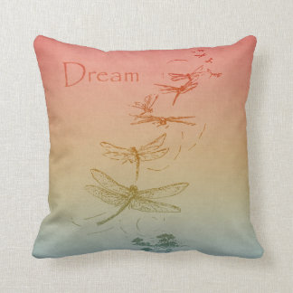 Dreaming Dragonflies Throw Pillow