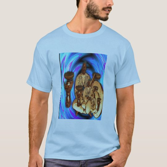 Dreaming Drum Heartbeat Collage T-Shirt