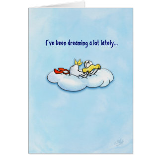 Dreaming duck: love is the best! card