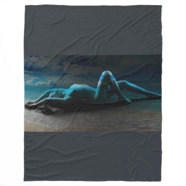 Beach Themed Dreaming Fleece Blanket