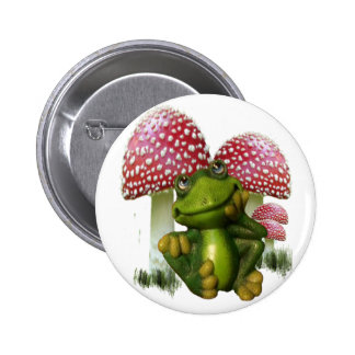 Dreaming Frog Pinback Button