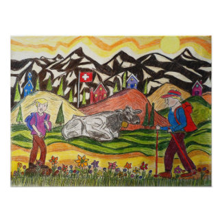 Dreaming Hike Swiss Poster