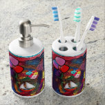 Dreaming in Color Soap Dispenser And Toothbrush Holder