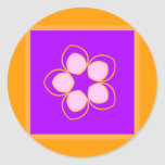 Dreaming Lotus Anime Flower Classic Round Sticker