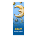 Dreaming moon - Reading is fun! bookmark Business Card