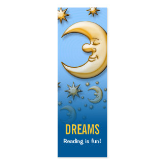 Dreaming moon - Reading is fun! bookmark Mini Business Card