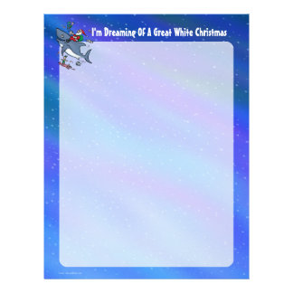 Dreaming Of A Great White Shark Christmas Letterhead