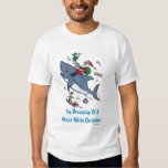Dreaming Of A Great White Shark Christmas Tshirts