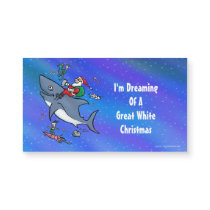 Dreaming Of A Great White Shark Funny Christmas
