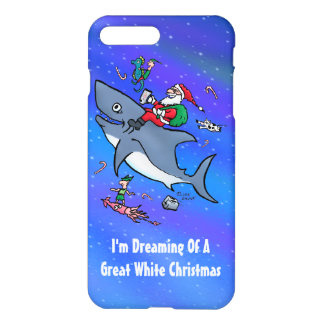 Dreaming Of A Great White Shark Funny Christmas iPhone 8 Plus/7 Plus Case