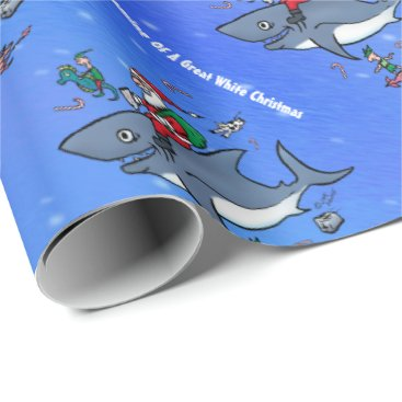 Christmas Themed Dreaming of A Great White Xmas Wrapping Paper