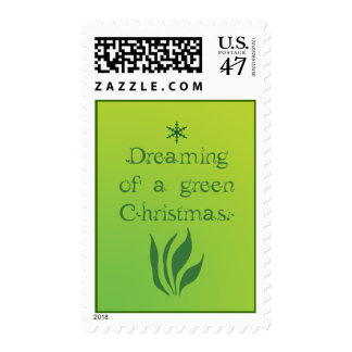 Dreaming of a green christmas - Postage Stamps