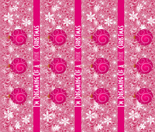 dreaming of a pink christmas girlie christmas wrapping paper