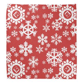 Dreaming of a Snowflake Christmas Dog Bandana