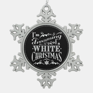 Dreaming of a White Christmas Chalkboard Ornament