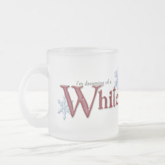 Dreaming of a White Christmas Frosted Glass Coffee Mug