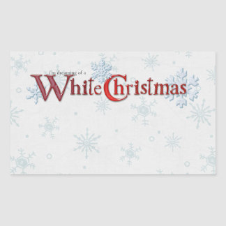 Dreaming of a White Christmas Rectangle Stickers