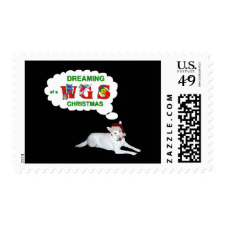 Dreaming of a White German Shepherd Christmas Postage