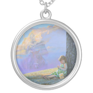 Dreaming of Camelot Round Pendant Necklace