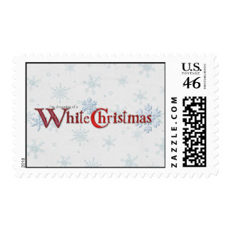 Dreaming of Christmas Snow Postage Stamp