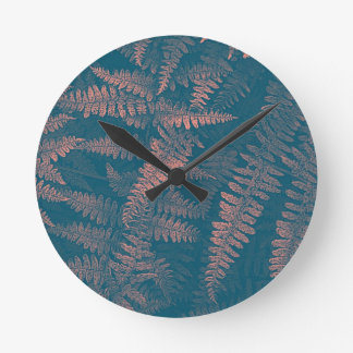 Dreaming Of Ferns Round Clock