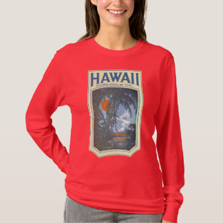 Dreaming of Hawaii Ladies dark long sleeve Tee