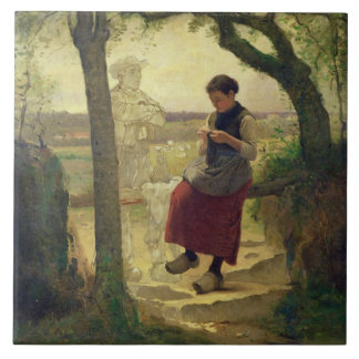 Dreaming of her Love, 1901 Large Square Tile