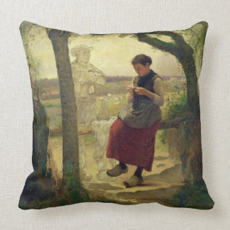 Dreaming of her Love, 1901 Throw Pillows