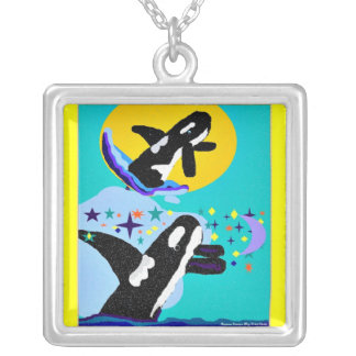 Dreaming of Killer Whales with sun Necklace