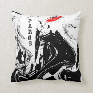 Dreaming of Paris Throw Pillow