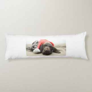 Dreaming of Santa - German Shorthair Puppy Body Pillow