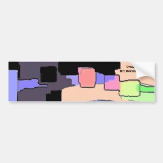 """Dreaming of Sky"" Geometric Art Bumper Sticker"