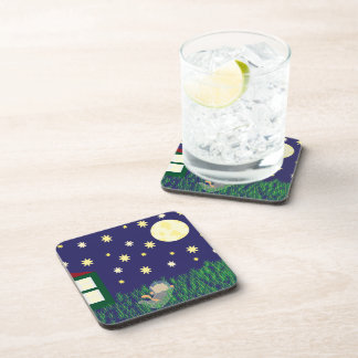 Dreaming of Space Cat Cork Coaster