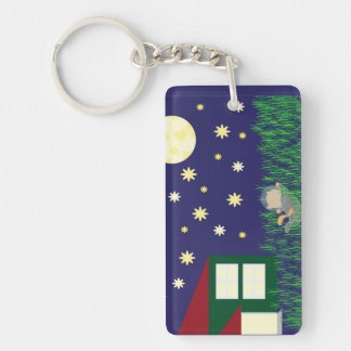 Dreaming of Space Cat Keychain