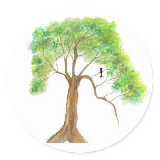Dreaming Of Spring From Original Artwork sticker
