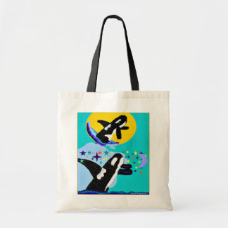 Dreaming of the Sun Killer Whale shopping  bag